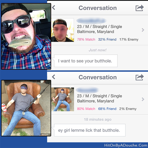Ladies keep your buttholes far away from these douches for Plenty of fish search by name