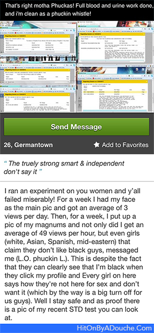 The douche on plenty of fish that uploads his std test for Plenty of fish search by name